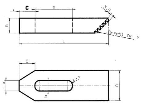 Zeichnung zu Spanneisen mit Treppenkrallen